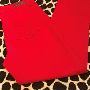 CALVIN KLEIN Womens Red Jeans